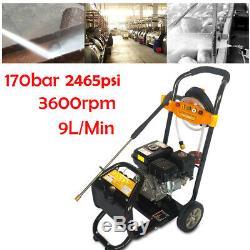 2465psi Nettoyeur Haute Pression 7.5hp Essence Power Jet Cleaner Moteur 9 L / Min Dhl
