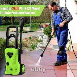 2600psi/180bar Lave-linge Électrique À Pression Eau High Power Jet Wash Patio Car