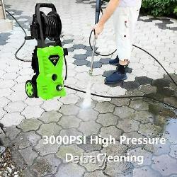 2600psi Lave-pression Électrique 1650w 135 Bar High Power Jet Cleaner Patio Car