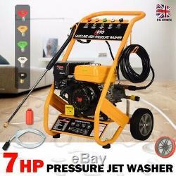 3000 Psi 7hp Démarrage Électrique Essence Puissance Pression Jet Laveuse 10 Litres Par Minute