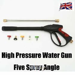 3000 Psi À Haute Pression Pistolet De Pulvérisation D'eau Laveuse + Baguette / Lance + 5 Nozzles