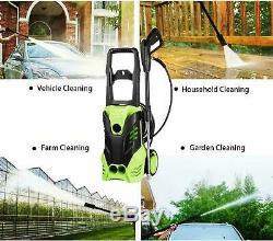 3000psi / 1.7gpm Électrique Nettoyeur Haute Pression Power Jet Wash Garden Patio Cleaner