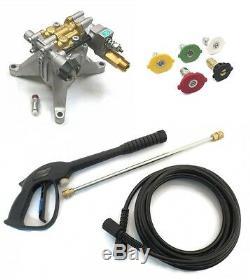 3100 Psi Puissance Pression Lave Pompe A Eau & Spray Kit 7/8 Laiton Tête D'arbre