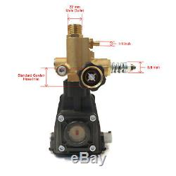 3600 Pompe Pression Psi Laveuse, 3/4 Arbre Horizontal, 2,5 Gpm, 3500 Rpm, 6.5 HP