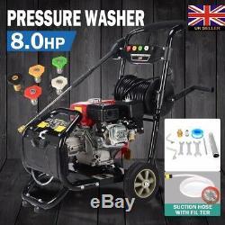 3950psi 8.0hp Essence Laveuse À Pression T-max Power Impressionnant Pro 28 Mètres De Tuyau Au Royaume-uni
