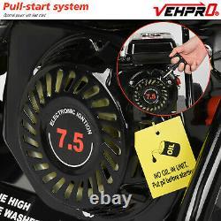 3950psi Laveuse À Pression D'essence 272bar Power Jet Wash 4 Temps 6.5hp 12m Tuyau