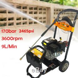 7.5 HP / 3600 RPM 2465psi Gaz Portable Power Nettoyeur Haute Pression Nettoyeur 170bar