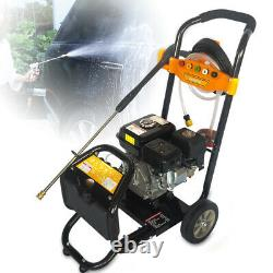 7.5hp Petrol High Power Pressure Washer 2465psi Water Jet Car Cleaner 3600 RPM