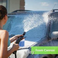 Coocheer 2600psi 1600w Lave-pression Électrique Grande Puissance Jet Patio Car Clean