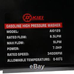 Essence Puissance Nettoyeur Haute Pression Jet Wash Cleaner Avec Pistolet Tuyau 2500psi 7hp Moteur