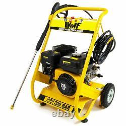 Ex Demo Wolf Petrol Driven Power Pressure Jet Washer 3000psi 200bar 6.5hp