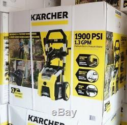 Karcher K1900r Laveuse À Pression Électrique, Buse Turbo De 1900 Lb / Po², 1,3 Gal / Min