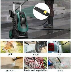 Lave-linge Électrique Haute Pression 3050psi 1800w High Power Jet Water Patio Car Clean