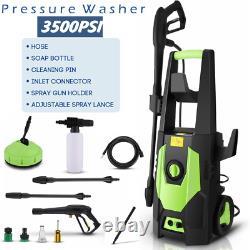 Lave-linge Électrique Haute Pression Puissance 3500 Psi/150 Jet Bar Water Patio Car Cleaner