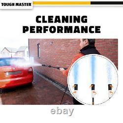 Lave-pression Électrique 2320 Psi/160 Bar Eau High Power Jet Wash Patio Car