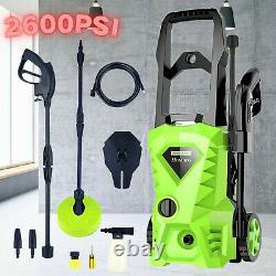 Lave-pression Électrique 2500psi 1600w Jet Cleaner Garden & Patio Car Powerful