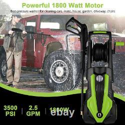 Lave-pression Électrique 3500psi/150 Bar Jet D'eau Électrique Lave-linge Patio Maison De Voiture