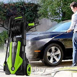 Lave-pression Électrique 3500psi/1900w Eau High Power Jet Wash Patio Car Vert