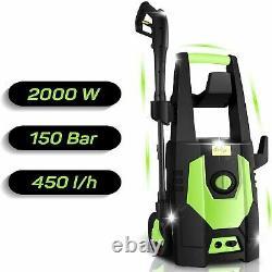 Lave-pression Électrique 3500psi Eau Haute Puissance Jet Wash Patio Car Cleaner Uk