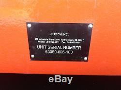Lave-puissance Jetech De Pression, 40,000psi, Pompe 50j3-uhes038-f9, Moteur 25hp Utilise