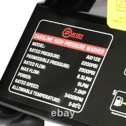 Laveuse À Jet Haute Pression Essence Powered Laveuse 2200psi / Nettoyeur De Lavage De Voiture 150bar