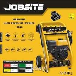 Laveuse À Pression D'essence Jobsite 2200 Psi 6.5hp High Power Jet 4 Stroke Garden Car