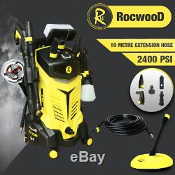 Laveuse À Pression Électrique 2400psi Rocwood 2200w High Power Jet Cleaner 165bar