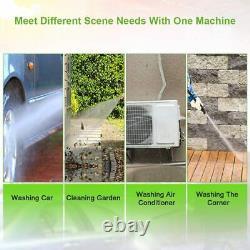 Laveuse À Pression Électrique 3000 Psi/150 Bar Jet Patio Water High Power Wash 2000w