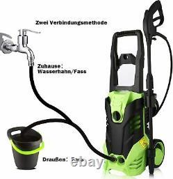Laveuse À Pression Électrique 3000psi Eau Haute Puissance Ipx5 Jet Wash Patio Car Garden