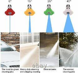 Laveuse À Pression Électrique 3500 Psi/150 Bar Eau Haute Puissance Jet Wash Patio Car