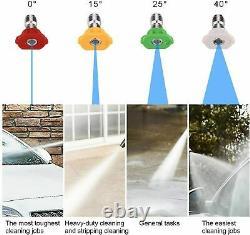 Laveuse À Pression Électrique 3500psi Eau Haute Puissance Jet Wash Patio Car Green