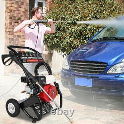 Laveuse À Pression Essence 3000psi 7hp Garden Patio High Power Cleaner Jet
