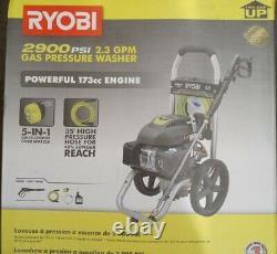 Laveuse À Pression Ryobi 2900 Psi 2 3 Gpm Nettoyage Compact De L'équipement Électrique Extérieur