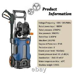 Laveuse Électrique À Haute Pression 3500psi Power Jet Laveuse Patio Car Cleaner