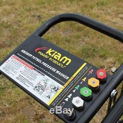 Nettoyeur 3200psi De Nettoyeur De Kiam Km3200p De Jet De Puissance De Pression D'essence 7hp
