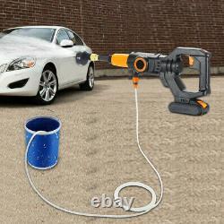 Nettoyeur D'eau Électrique À Pression Sans Fil Portable 320psi Avec Voiture De Lavage De Batterie
