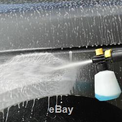 Nettoyeur Haute Pression Électrique Avec Pulvérisateur Télescopique À Jet D'eau De Puissance 1500 Psi