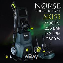 Norse Professionnel De Haute Puissance Électrique Pression / Lave-glace Jet 3700psi Sk155