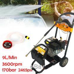 Nouveau Essence Laveuse À Pression 2465psi / 170 Bar Power Jet Cleaner 7.5hp Dhl