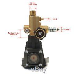 Pompe De Laveuse À Pression De 3 600 Lb / Po², Arbre Horizontal De 3/4, 2,5 Gal / Min, 3500 Tr / Min, 6,5 HP
