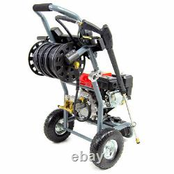 Powerking Petrol Pressure Washer 3843psi 300 7hp Wolf Engine Power Jet Cleaner
