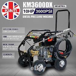 Pression Diesel Laveuse 3600psi 250bar Haute Puissance Démarreur Électrique Plus Propre Puissance