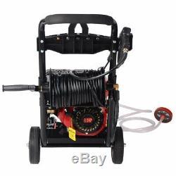 Pro 3950psi 8.0hp Essence Nettoyeur Haute Pression Puissance Impressionnante T-max 28 Mètres De Tuyau