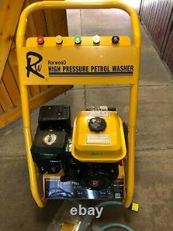 Rocwood Petrol Pressure Laveuse 3000 Psi 7hp 10 Litres High Power Jet Flambant Neuf