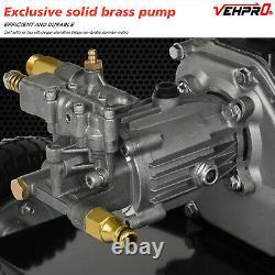 Vehpro Petrol Power Pressure Jet Laveuse 3950psi 6.5hp Moteur Avec Kit Tuyau D'arme À Feu