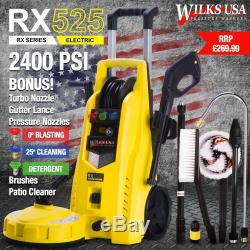 Wilks-usa Électrique Laveuse 2400 Pression Psi / Bar 165 Power Jet Cleaner Patio