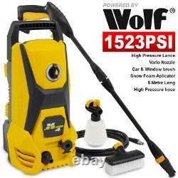 Wolf Electric Pressure Washer 1523psi Water Power Jet Sprayer High Power Garden