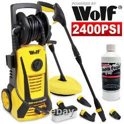Wolf Electric Pressure Washer 2400psi Water Power Jet Sprayer 500ml Mousse De Neige