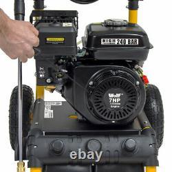 Wolf Petrol Pressure Washer 3500psi 240bar 7hp Petrol Power Washer & Patio Clean