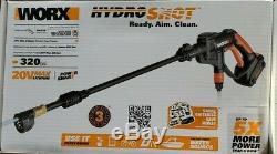 Worx Hydroshot 20v Nettoyeur Haute Pression Kit 320psi Power Cleaner Avec Chargeur De Batterie +
